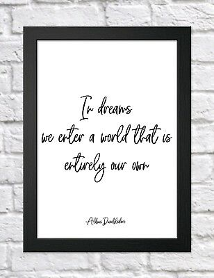Harry Potter Quote typography inspirational print poster A4 childrens bedroom