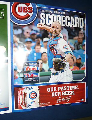 7 25 2015 PHOTOCOPY of TED'S SCORECARD CUBS COLE HAMELS PHILLIES NO HITTER NO NO 10