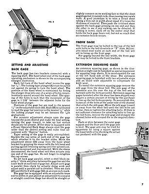 Niagara Power Squaring Shears Model H I J K /& L Service /& Parts Manual  #139