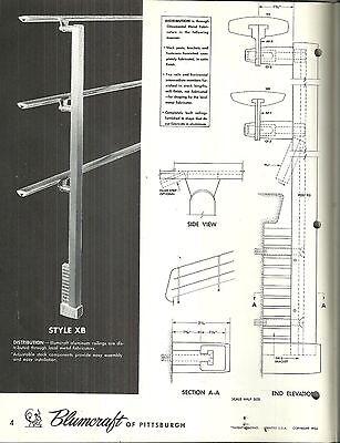 Blumcraft Aluminum Railings Catalog Vintage Mid-Century Modern Architectural 2