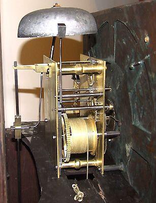 ~ Antique Brass Dial Burr / Pollard Oak Longcase Grandfather Clock MOSS FRODSHAM 11