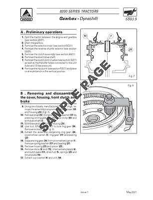 Massey Ferguson Mf 8200 & Xtra Series Tractor Workshop Service Manual ~ Dvd 2