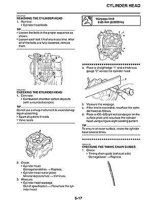 2003 2007 yamaha yfz450 s atv factory service manual