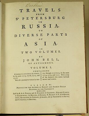 Bell Travels St Petersburg Russia To Asia 1763 1st ed. Beautiful Period Binding 7