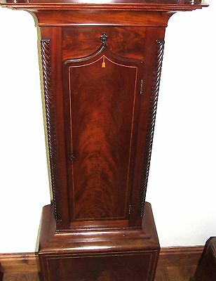 * Antique Inlaid Mahogany Longcase Grandfather Clock THOMAS DE GRUCHY JERSEY 7