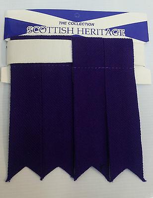 Plain Purple Sock Flashes 4 Sporrans & Kilts 2