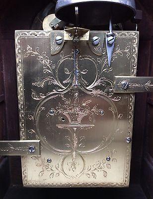 London? English Twin Fusee Verge Mahogany 8 Day Bell Striking Bracket Clock 1770
