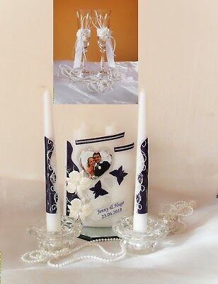 Hochzeitkerze,Traukerze,Braut mit 3D Orchideen Taufgeschenk