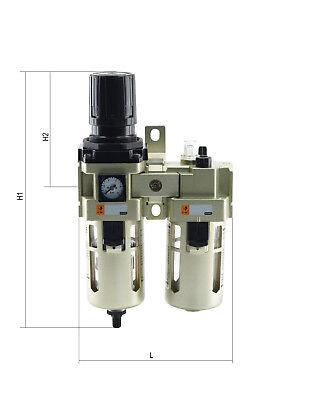 Maintenance Units, 2-teilig, Compressed Air Regulator Oiler Pressure Reducer 2