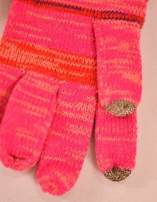 women's Touch & Go gloves pink stripe one size smart phone touch finger MSR $30 3
