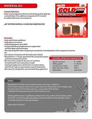2xSets For: SUZUKI GSX-R 750 SRAD GSXR750 97-98 SINTERED HH FRONT BRAKE PADS