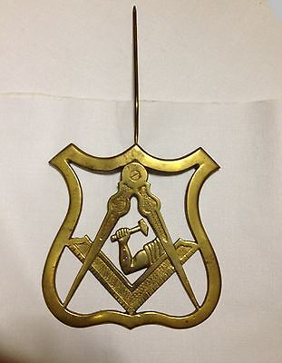 Masonic Emblem In Solid Cast Brass For Wall Door Or Gate 6