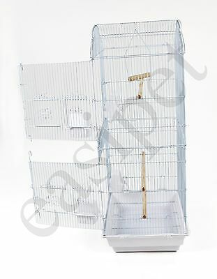 Large Metal Bird Cage Budgie Canary Parakeet Cockatiel Finch Lovebird Tall Cages
