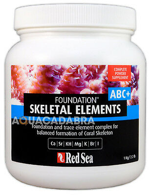 RED SEA REEF FOUNDATION ABC+ COMPLETE 1kg CORAL SUPPLEMENTS MARINE AQUARIUM TANK