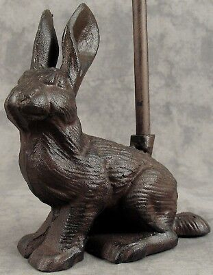 Architectural & Garden SITTING DOG Cast Iron DOOR PORTER DOORSTOP ~DECORATIVE CARRY HANDLE~ Antiques