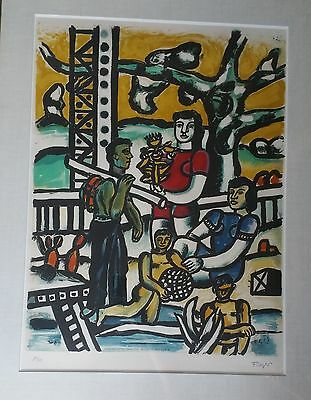 """1976 Vintage FERNAND LEGER /""""THE TREE IN THE LADDER/"""" COLOR offset Lithograph"""