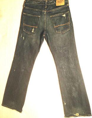Abercrombie & Fitch Jeans BAXTER Indigo Destroy W28 L30 RRP $279 Mens or Boys 6