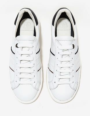 1def2fc1b NEW MONCLER NEW Gourette White Leather Trainers RRP £310 BNWT ...