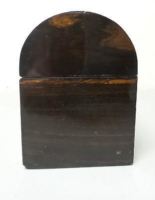 "19th C. ROSEWOOD ""ALMS"" COLLECTION BOX, BRASS TRIM & ORIGINAL KEY, c.1860-80 9"