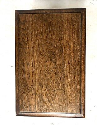 Antique Carved Oak Joint Stool Slipper Box / Occasional Table / Lamp Stand 8