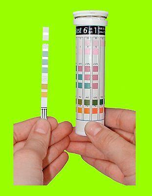 Test de l'eau Tetra Test 6in1 pH KH GH NO2 NO3 et Chlore Bande d'essai 2