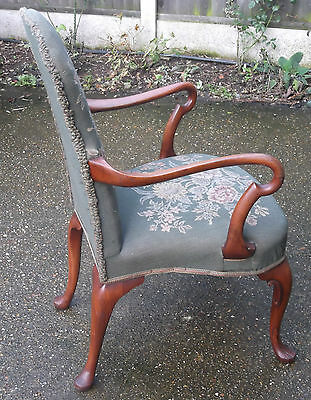 Superb Victorian Walnut Tapestry Armchair Very Clean Delivery Available 9