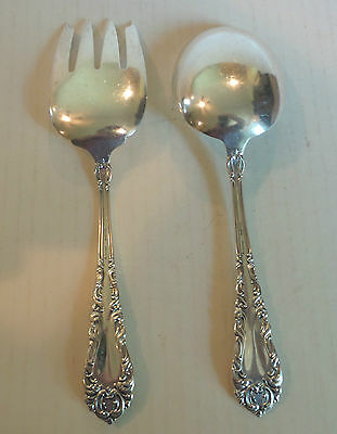 "NICE VINTAGE AMSTON STERLING SILVER ""ATHENE / CRESCENDO"" SALAD SET, c. 1913"