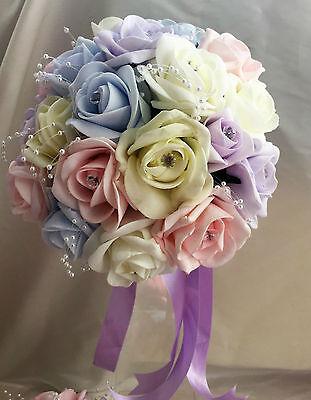 Fiori Matrimonio Luce colori pastello/Colori Arcobaleno Spose, Damigella, asole 5
