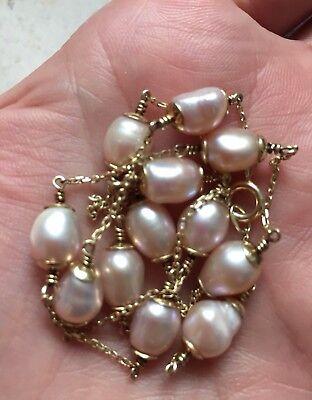 Perlenkette- mit echt Gold 2