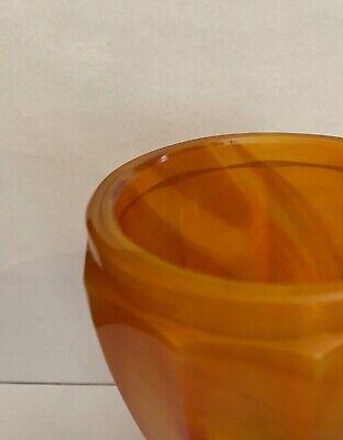 Lithyalin_Glasbecher_Böhmen_gelb/oranges marmoriertes Glas_Egerman_1830-1850 4