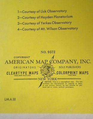 American Map Company Inc.Map Of The Solar System Moon Sun Planets Cleartype Maps American Map