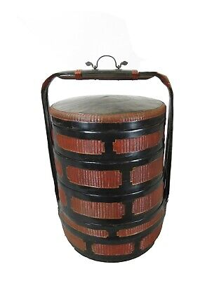 Chinese Antique Bamboo Food Basket 4