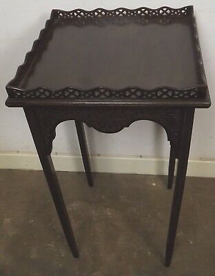 Antique Victorian Decorative Mahogany Silver Occasional Table Fretwork Gallery 2