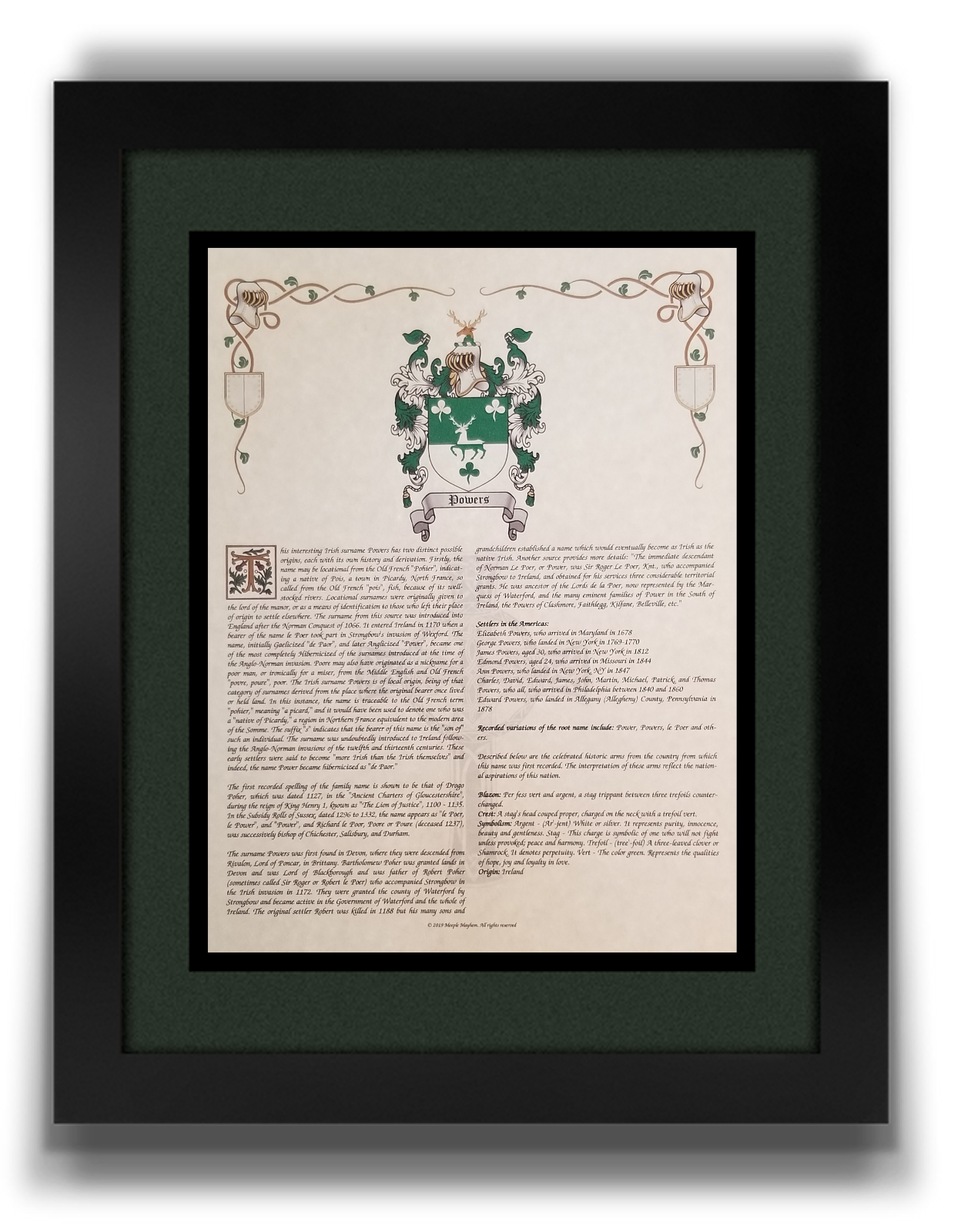 Find Your Name Here - Family Coat of Arms Crest Prints - English Origin 3
