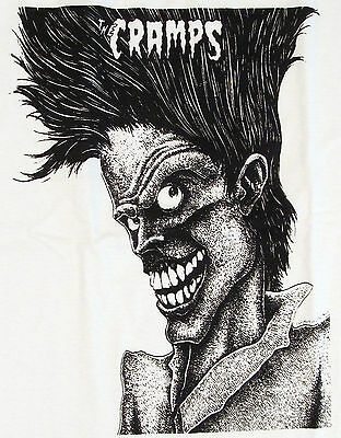 The CRAMPS Bad Music For Bad People T-shirt Punk Rock Tee Adult S,M,L,XL New