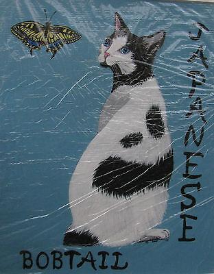 """C226    Original Acrylic Painting By Ljh  """"Meo & Tia""""  Siamese  Cat 5"""