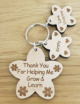 Personalised Gift For Teacher Gifts School Nursery End Of Year Term Keyring 3