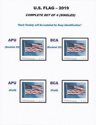 *NEW* 2019 US FLAG SET #5342-45 (Complete Set of 4 Singles) 2019 Mint NH 2