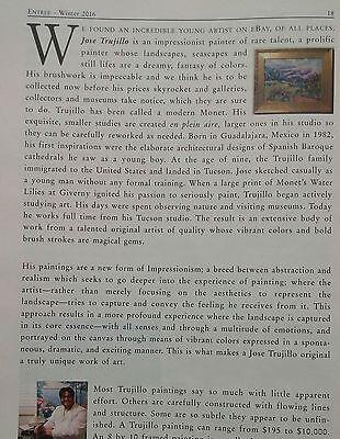 JOSE TRUJILLO - MODERN ABSTRACT SIGNED ORIGINAL CHARCOAL DRAWING Horseman HORSE 6