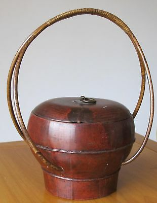 Small Red Antique Basket 4