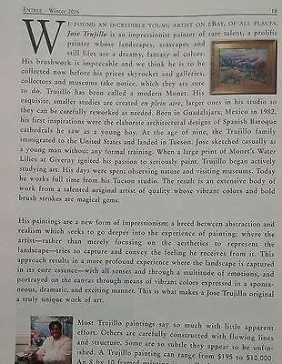 JOSE TRUJILLO OIL PAINTING IMPRESSIONISM 12x16 Favist Rooster Artist SIGNED