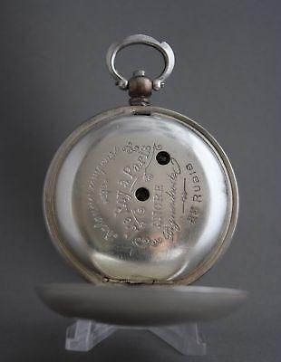Antique Bronze Grandwizer Ahmet Muhtar Pasha Le Roy a Paris 25Rubis Pocket Watch 7