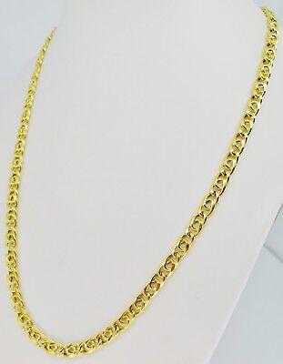 4c9c7500e74 ... B Superbe Collier Or Jaune Homme Femme Gold 18K Chain Man Woman  Necklace Halsket 2