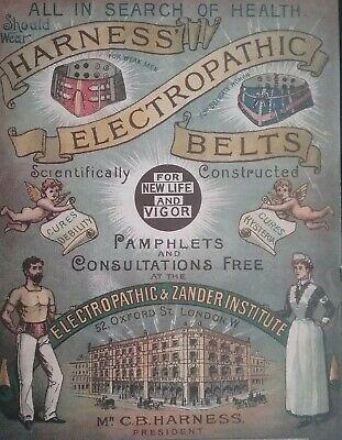 Victorian Electropathic Belts Leaflet ******(See Description For Details)****** 2