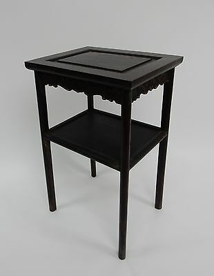 Gorgeous Antique Chinese Zitan Two tier  Wood Side Table RARE!!  28 inches 6