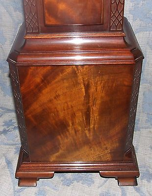 Antique Mahogany Grandmother Clock / Miniature Longcase : Westminster Chimes 8