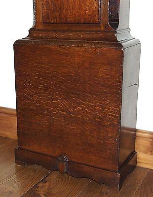 Antique 8 Day Oak Longcase Grandfather Clock Atkinson of GATESHEAD : Centre Date 10