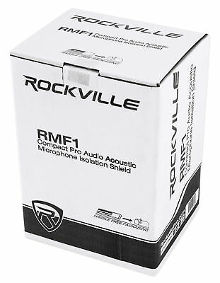 Rockville RCM02 Pro Studio Recording Condenser Microphone Mic+Shock Mount+Shield 11