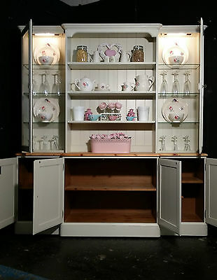 3 Of 10 Large Ducal Pine Farmhouse Kitchen Welsh Dresser Shabby Chic F B Free Delivery