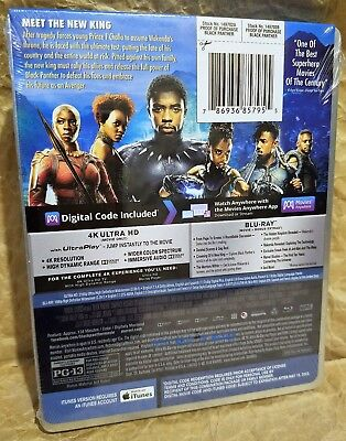 BLACK PANTHER 4K UHD HDR + Blu-ray + Digital Best Buy Limited Edition STEELBOOK 2